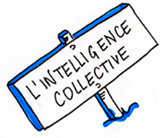 panneau indiquant intelligence collective